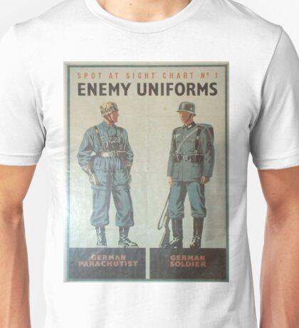 Vintage poster - Enemy Uniforms Unisex T-Shirt