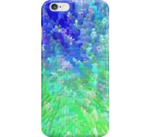 Blue and Green Burst - 3D Effect iPhone Case/Skin