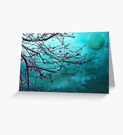 Nectarine Blossom Greeting Card