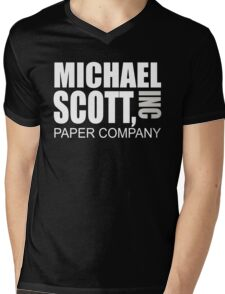 Michael Scott Paper Company - The Office Mens V-Neck T-Shirt