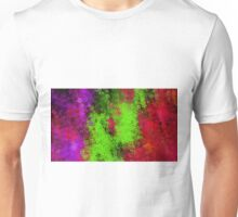 green red and purple flowers abstract background Unisex T-Shirt