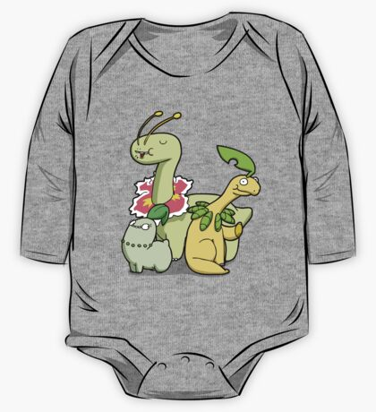 Leafy Dino's One Piece - Long Sleeve