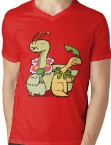 Leafy Dino's Mens V-Neck T-Shirt