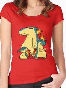 Three Flaming Weasels Women's Fitted Scoop T-Shirt