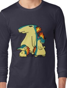 Three Flaming Weasels Long Sleeve T-Shirt