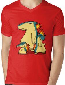 Three Flaming Weasels Mens V-Neck T-Shirt