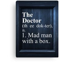 The Doctor Dictionary Canvas Print