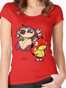 Drooling Beetles Women's Fitted Scoop T-Shirt