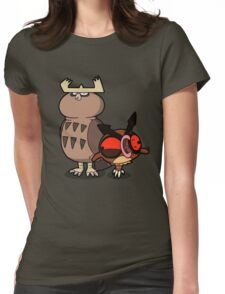 Owl mess you up! Womens Fitted T-Shirt