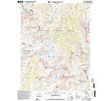 USGS TOPO Map California CA Tower Peak 295508 2001 24000 geo Photographic Print