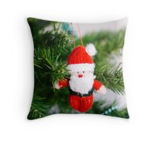 knitted santa Throw Pillow