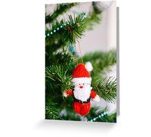 knitted santa Greeting Card