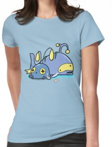 Chubby whales Womens Fitted T-Shirt