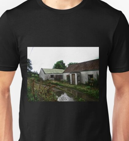 Abandoned Cottage on a Rainy Day, Donegal, Ireland Unisex T-Shirt