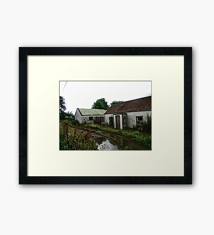 Abandoned Cottage on a Rainy Day, Donegal, Ireland Framed Print