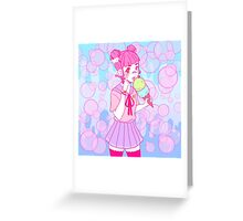 Harajuku Girl Ice Cream Greeting Card