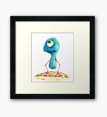 Fluffy Alien Framed Print