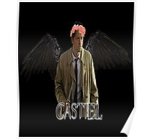 Castiel Flower Crown Poster