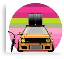 Volkswagen Golf MK2 Canvas Print