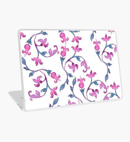 Pink Belle Watercolour repeating pattern Laptop Skin