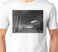 Daytime Stroll in Black and White Unisex T-Shirt