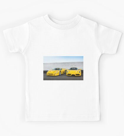 Yellow Ferrari F50 & Enzo Kids Tee