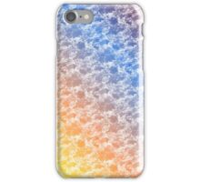 random cloudy pattern blue yellow red iPhone Case/Skin