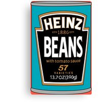 Retro Heinz Baked Beans Can PopArt Canvas Print