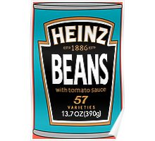 Retro Heinz Baked Beans Can PopArt Poster