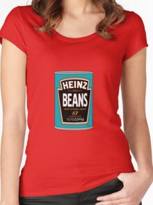 Retro Heinz Baked Beans Can PopArt Women's Fitted Scoop T-Shirt