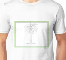 Palm Tree Sketch framed Unisex T-Shirt
