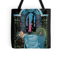 The Sleeping Rose - Blue Dress Tote Bag