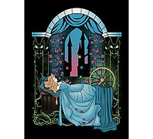 The Sleeping Rose - Blue Dress Photographic Print