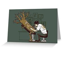 The Wood With The Dragon Craving Greeting Card