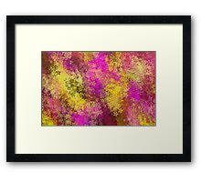 pink and yellow flowers abstract background Framed Print