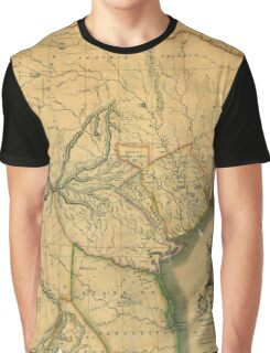 Map Of Texas 1833 Graphic T-Shirt