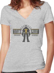 Titan Pilot Training Academy Women's Fitted V-Neck T-Shirt
