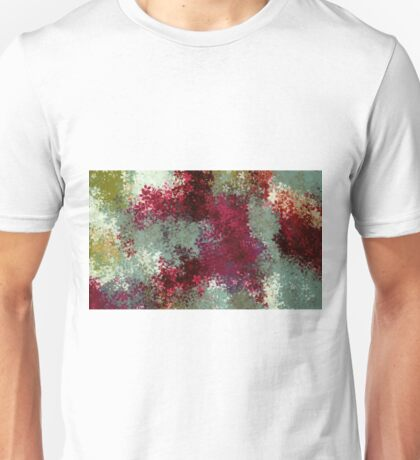 red blue and green flowers abstract background Unisex T-Shirt