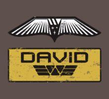 Prometheus David - Patch and Wings (Android) - Weyland Logo (SIDE) by James Ferguson - Darkinc1