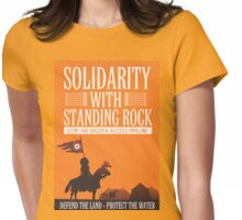 Solidarity with Standing Rock Womens Fitted T-Shirt