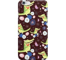 pattern of funny crocodile iPhone Case/Skin