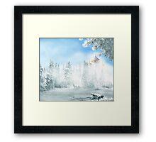 Winter Bench Framed Print