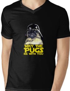Funny Star Wars May The Pugs Be With You Mens V-Neck T-Shirt