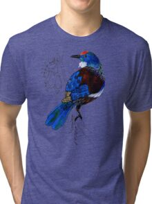 Tui - New Zealand bird Tri-blend T-Shirt