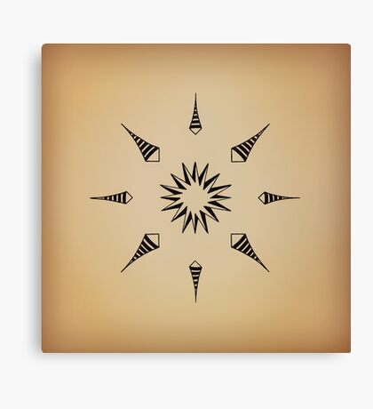Mandala #213 || Tan Canvas Print
