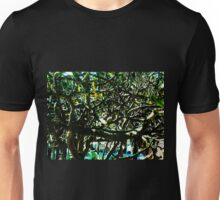 Tropical Tree Tangle - Natural Unisex T-Shirt