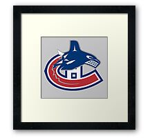 Vancouver Canucks - Montreal Canadiens Logomash Framed Print