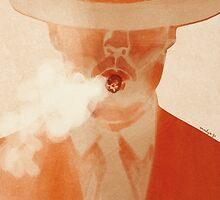 smoking man with a hat by annelyse