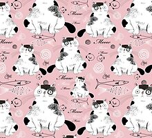 pattern with cats  by Tanor