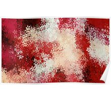 red and white flowers abstract background Poster